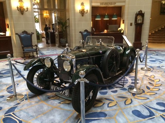 Frazer Nash in the Rotunda at the RAC club, Pall Mall