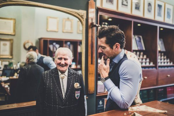Norman Dewis OBE with David Gandy