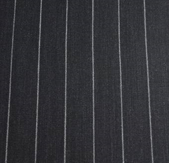 Dark Grey Pinstripe Tropical Worsted Gh 34247