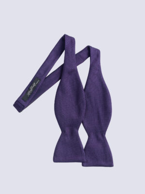Bow Tie Cundey Weave Purple And Navy Jh