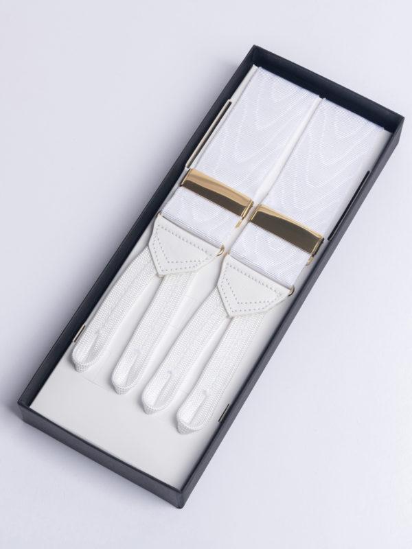 Brac Silk Barathea Dress White Moire Jh