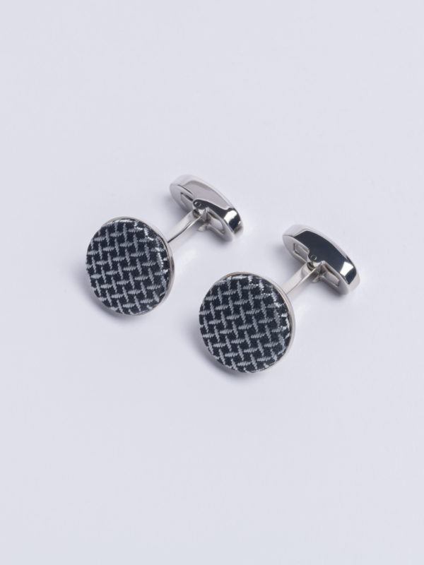 Cuff Cundey Weave Silver Jh