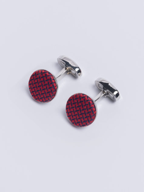 Cuff Cundey Weave Red Jh