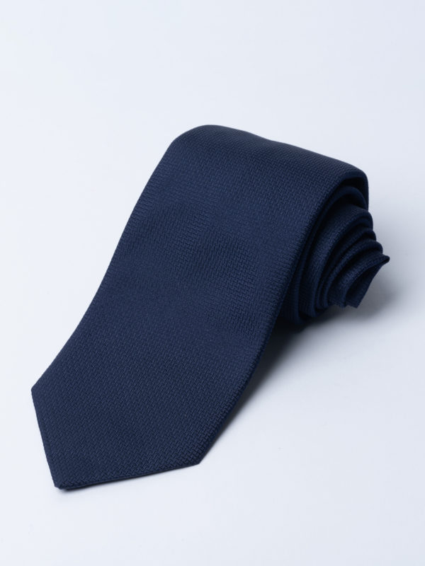 Tie Cundey Weave Navy Jh