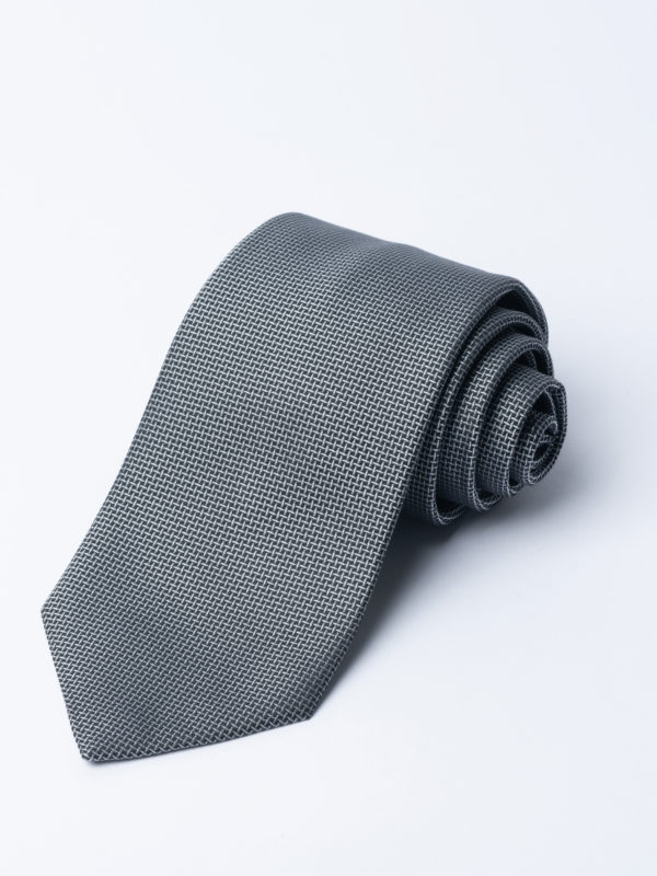 Tie Cundey Weave Silver Jh