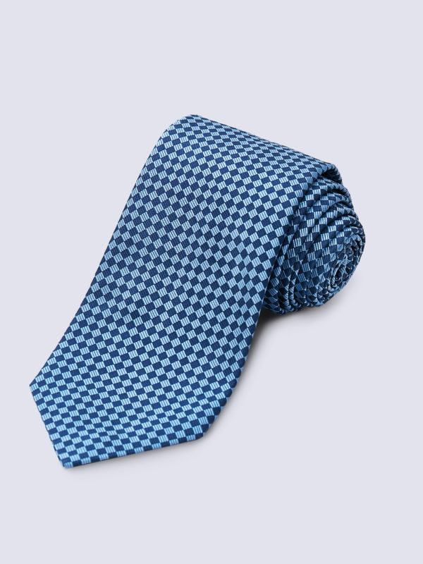 Tie Diamond Light Blue And Navy Lr