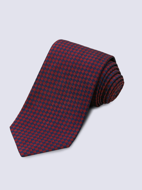 Tie Diamond Navy And Burgundy Lr