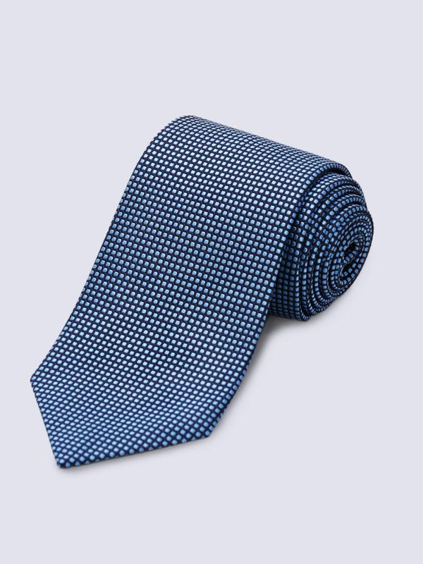 Tie Dot Mid Blue On Navy Lr