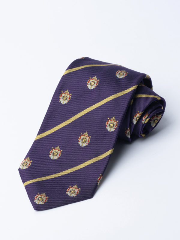 Tie Napoleonic Crested Purple Jh