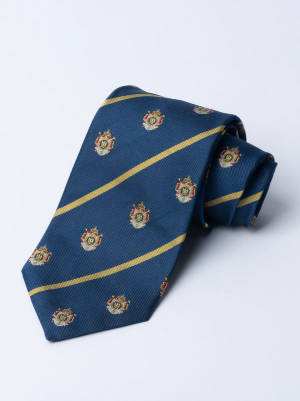 Tie Napoleonic Crested Saxe Blue Jh