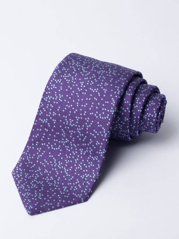 Tie Irregular Dot Pale Blue On Purple Jh
