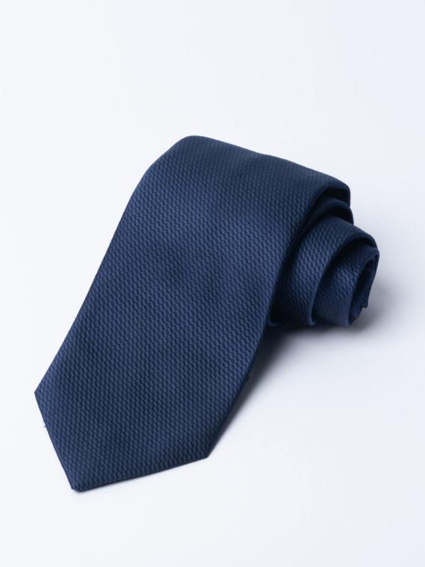 Tie Micro Basket Weave Navy Jh
