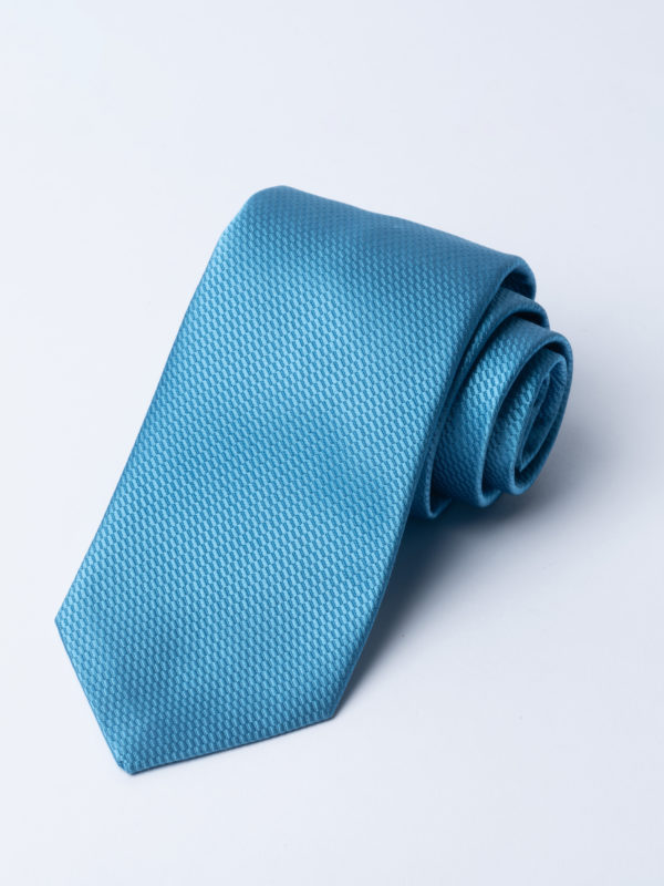 Tie Micro Basket Weave Pale Blue Jh