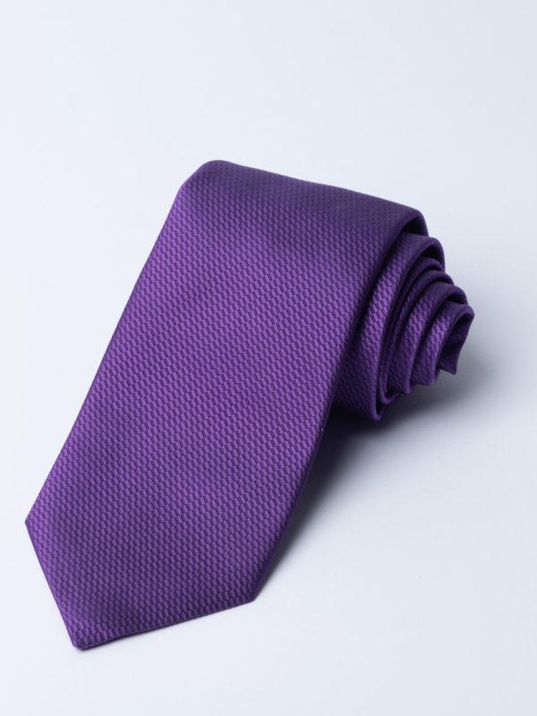 Tie Micro Basket Weave Purple Jh
