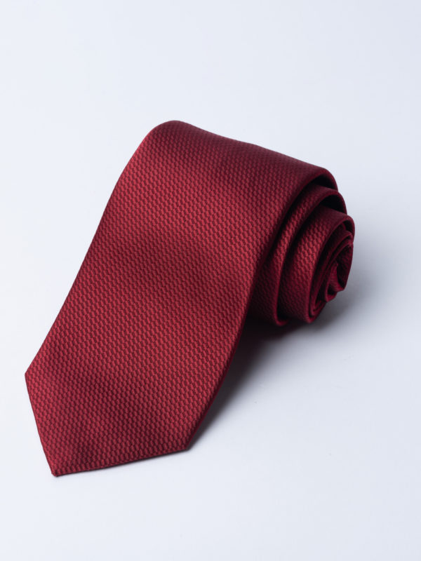 Tie Micro Basket Weave Red Jh