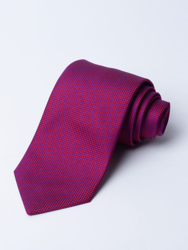 Tie Microcheck Dark Pink And Purple Jh