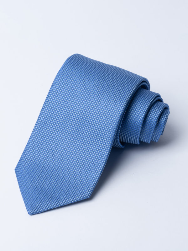 Tie Microcheck Pale Blue And Blue Jh