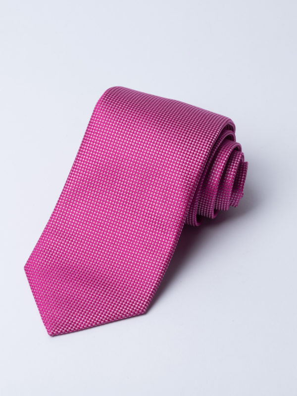 Tie Microcheck Pink And Pale Pink Jh