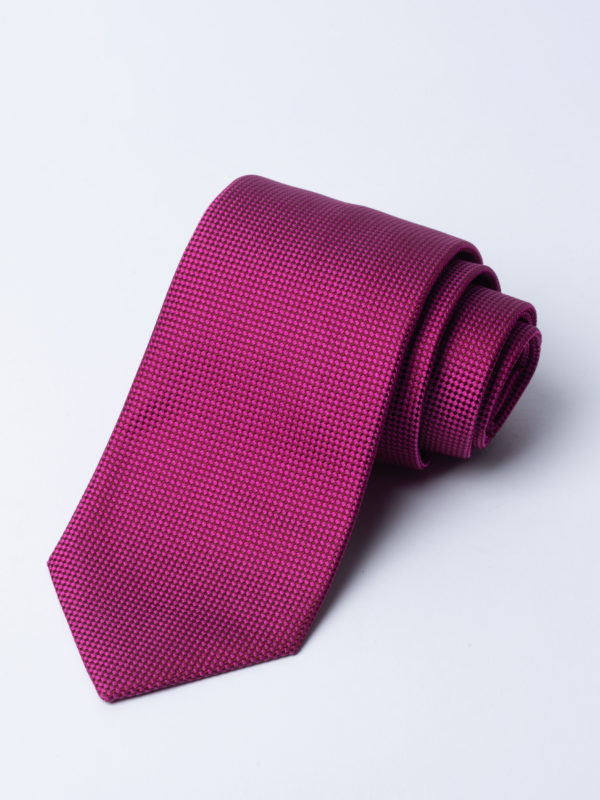 Tie Microcheck Red And Magenta Jh