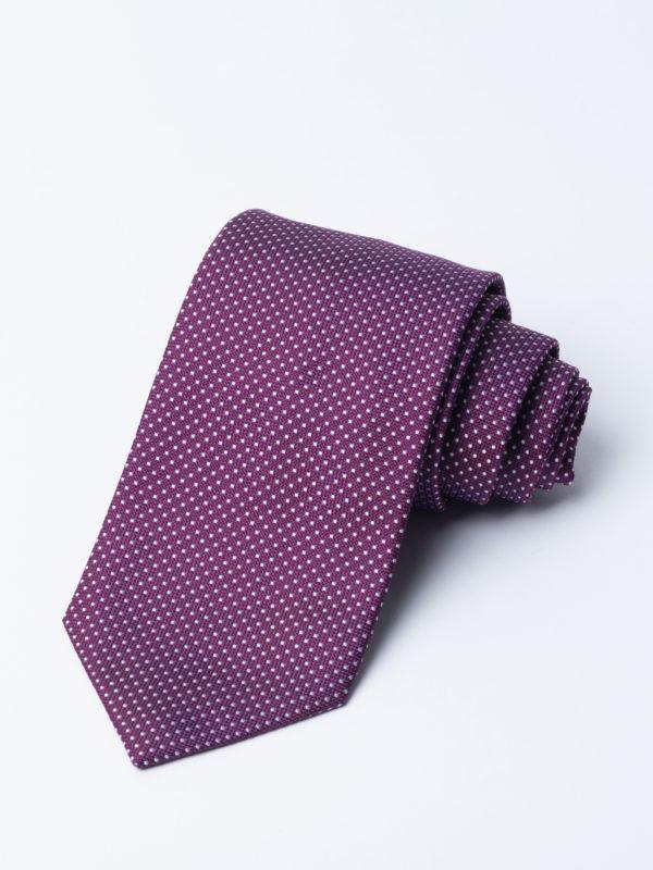 Tie Nano Spot White On Purple Jh