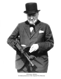Sir Winston Churchill In Churchill Stripe Suit By Kind Permission Of The Imperial War Museum
