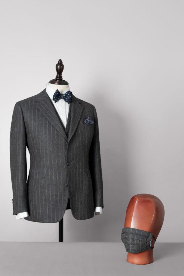Churchill Stripe jacket with matching mask