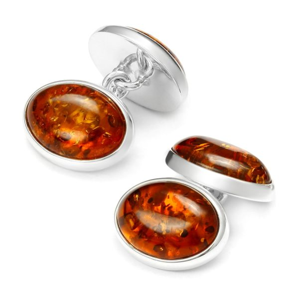 Beata Gregorczyk, The Baltic Collection, Cognac Baltic Amber Silver Cufflinks